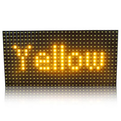 P10 Outdoor LED Display Panel Module - 32x16 - High Brightness YELLOW - 5V - Dot Matrix Display