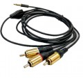 RCA Composite Video Audio (AV) to Stereo 3.5mm Plug Cable for ROCK64 Raspberry Pi