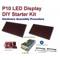 P10 Outdoor LED Display DIY Starter Kit - 64x16 Pixels - High Brightness RED