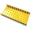 Flanged Metal Plate - 7 x 11 Holes - Yellow