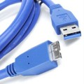 USB 3.0 Cable - 1.5 Meter - Male Type A to 10 Pin Micro B - Blue Color