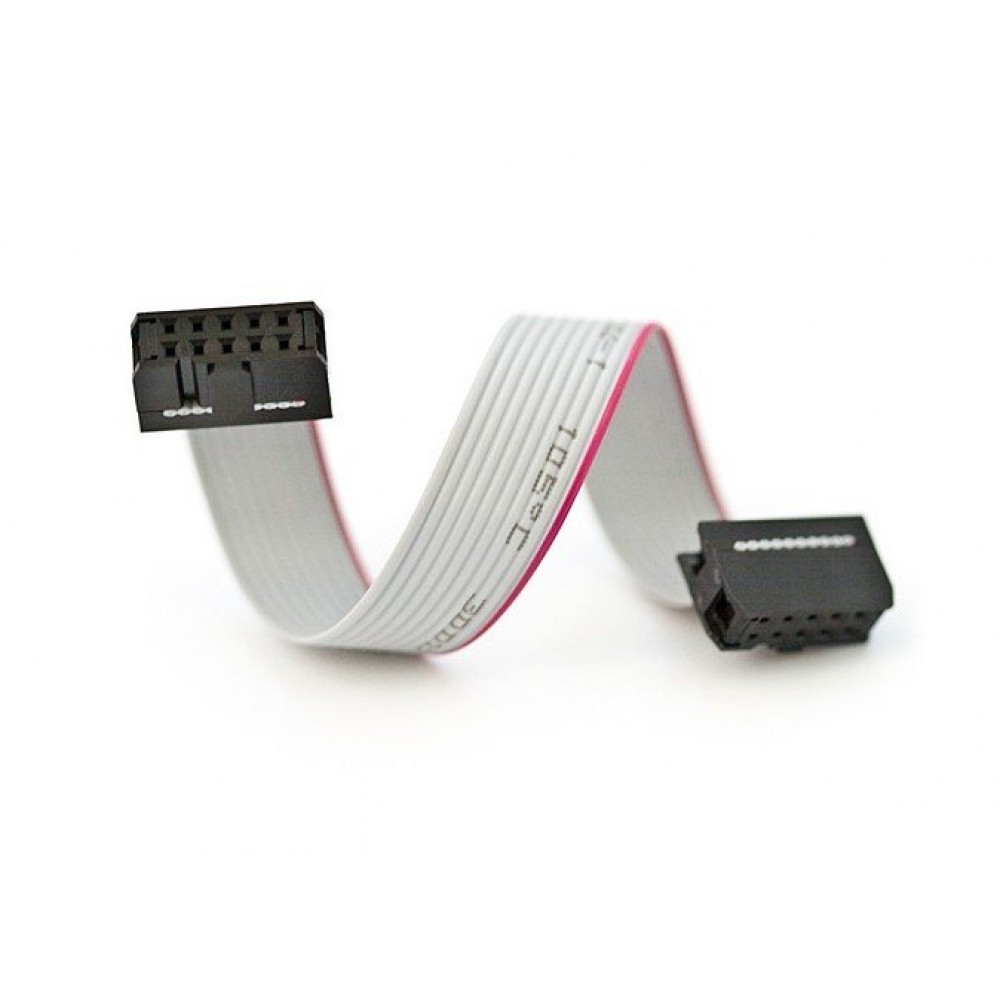 10 Pin Flat Ribbon Cable With Female Connectors At Both