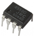 JRC4558 - Dual high Gain Operational Amplifier - DIP-8