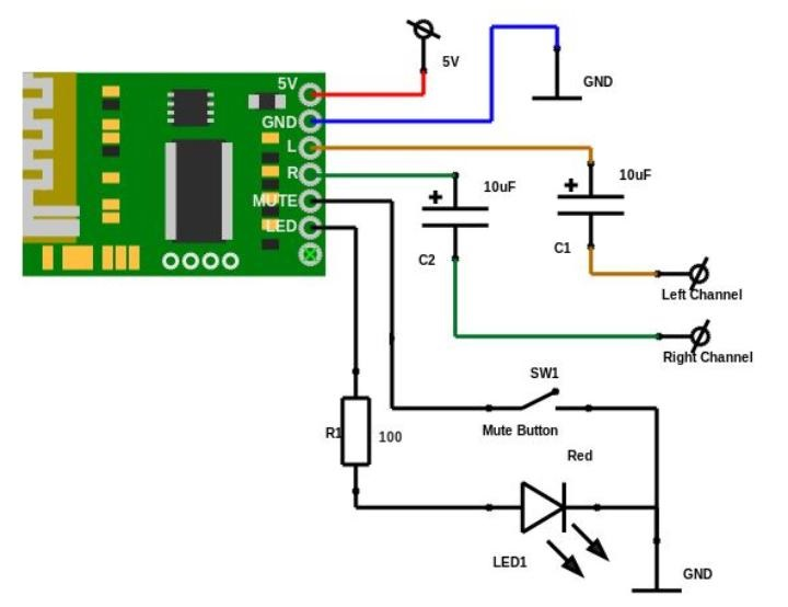 Bluetooth Audio Receiver Module - Stereo Output
