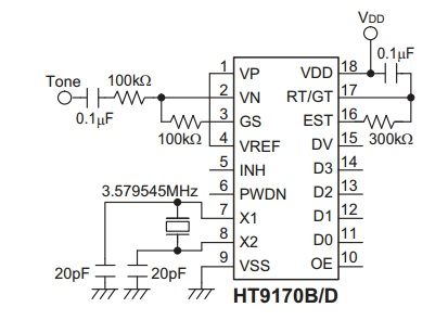 ht9170 dtmf decoder Ht9170 dtmf receiver 4500 buy now ht12d rf decoder 4800 buy now  ht12e rf encoder 4800 buy now displaying 1 to 3 (of 3 products) 1.
