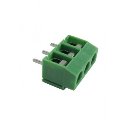 PCB Screw Terminal Block - 3 Pin Wire to Board Connector - 5mm Pitch - 126-3
