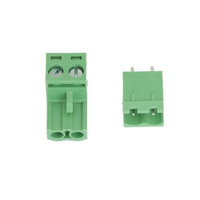 Plug In Type Screw Terminal Connector - 2 Pin - 5.08mm Pitch - Set of M+F - Straight Male Connector