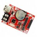 LED Display Controller Card - 32*320 - Single Color - 2x HUB12 - USB Disk - P10 LED Display Driver Card