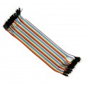 Male to Male Jumper Wires - 20cm Length - 2.54mm - Set of 40