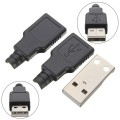 USB A type 4 Pin Male Connector with Plastic Enclosure