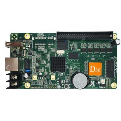 HD-D30 Asynchronous Full Colour LED Display Controller - 512*128 - 50 Pin Connector - 4GB Storage - Cloud Server Support