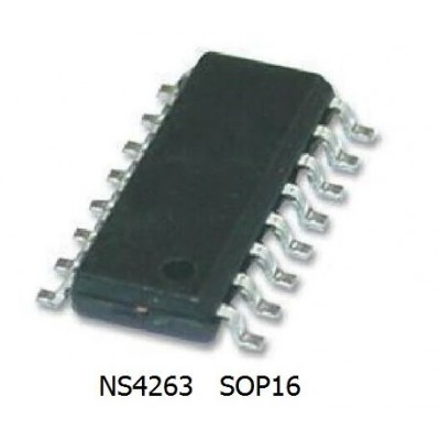 NS4263 - Class AB 3W Stereo Amplifier Chip - SOIC 16