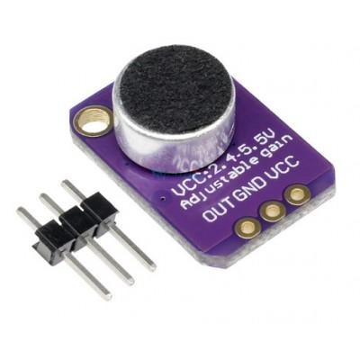 MAX4466 Electret Microphone Pre Amplifier Module Adjustable Gain 2.4-5V DC