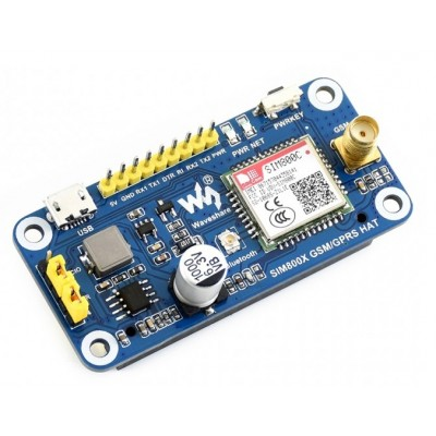 SIM800C based GSM/GPRS/Bluetooth HAT for Raspberry Pi