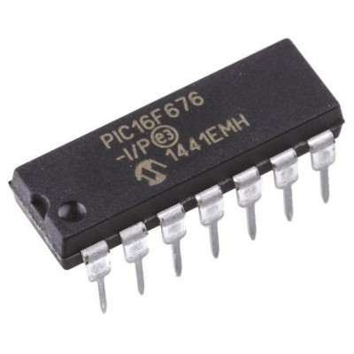 PIC16F676-I/P 8-bit PIC Microcontroller - 14Pin DIP - Microchip