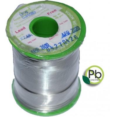 Sn99.3Cu0.7 Lead Free Rosin Core Solder Wire - 500gram - 20SWG - 2.8% Flux
