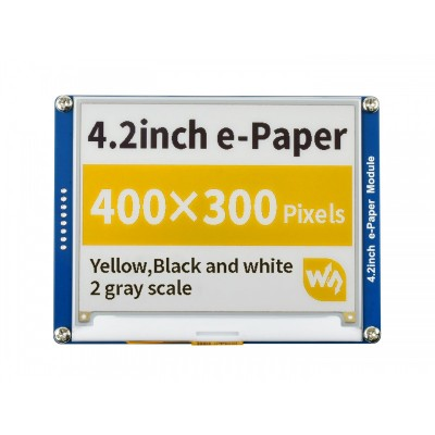 400x300, 4.2inch E-Ink display module(C), yellow/black/white three-color, SPI interface