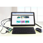 15.6inch Capacitive Touch LCD (H) (with case) , 1920x1080, Supports Multi mini-PCs, Multi Systems - HDMI, VGA