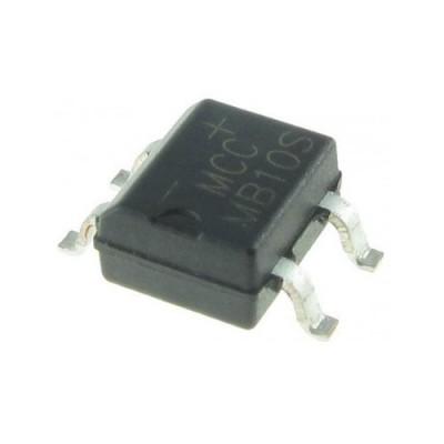 MB10S - 0.8A 1000V SMD Bridge Rectifier