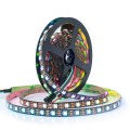 5 Meter Reel - NeoPixel WS2812B Addressable LED Strip - 60 led/mtr - Black PCB - IP20