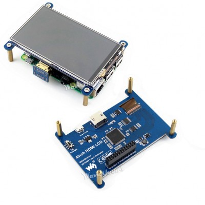 4inch HDMI LCD  800x480 Resistive Touch Screen  IPS Screen Designed For Raspberry Pi