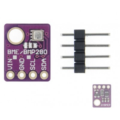 BME280 Relative Humidity, Barometric Pressure, Ambient Temperature Sensor Module - 5V - i2C Interface