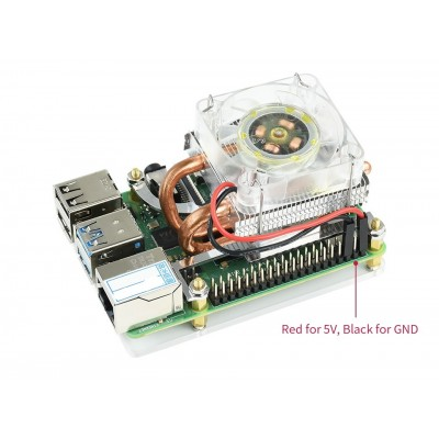 Low-Profile ICE Tower Cooling Fan for Raspberry Pi 4B/3B+/3B For Best Heat Dissipation
