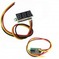 0.28inch Red Display Three Wire Mini DC Voltmeter - Red - 0-100VDC Measurement
