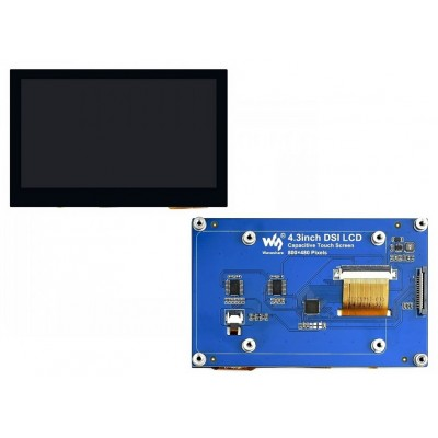 4.3inch Capacitive Touch Display For Raspberry Pi, 800×480, IPS Wide Angle, MIPI DSI Interface