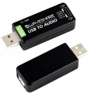 USB Sound Card, Onboard Microphone, Driver-Free, for Raspberry Pi / Jetson Nano, SSS1629A5, APA2068KAI-TRG