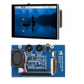 4inch Capacitive Touch Screen LCD for Raspberry Pi, 480×800, DPI, IPS, Toughened Glass Cover, Low Power, Audio Output