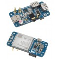 SIM7600G-H 4G HAT (B) for Raspberry Pi Zero, LTE Cat-4 4G / 3G / 2G Support, GNSS Positioning, Global Band