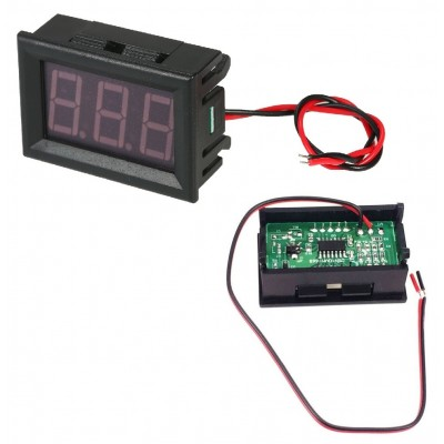 RED  0.56inch DC Voltmeter 2 Wire Panel Mount 4.5V to 30V DC