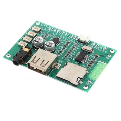 BT201 Bluetooth Audio Receiver Playback Module - BT/UDISK/TF Card Playback - Serial AT command MCU Control, 3W Amplifier,  SPP Pass through