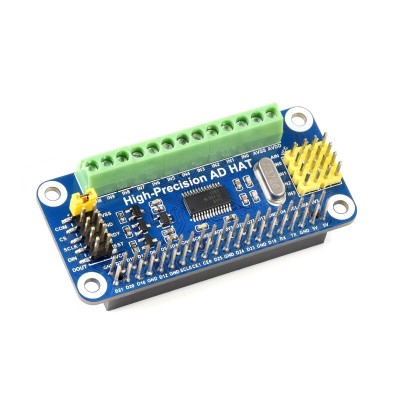 High-Precision AD HAT For Raspberry Pi, ADS1263 10-Ch 32-Bit ADC