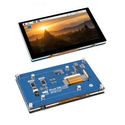 5inch Capacitive Touch Display for Raspberry Pi, MIPI DSI Interface, 800×480 - Waveshare