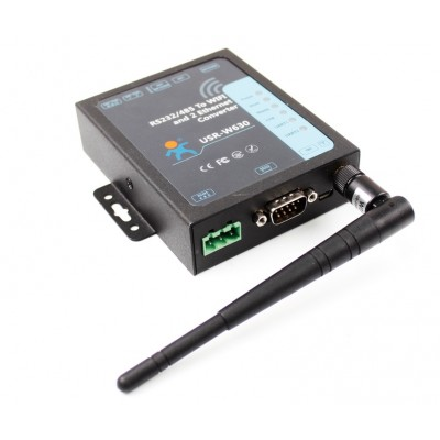 USR-W630 Industrial RS232/RS485 to WiFi and 2 Port Ethernet Converter