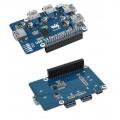 USB 3.2 Gen1 HUB HAT for Raspberry Pi, 4x USB 3.2 Gen1 Ports, Driver-Free