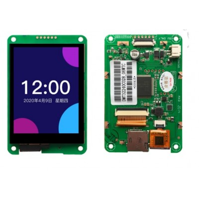 DWIN DMT32240C028_06WTC, 2.8 Inch HMI Smart LCD with Capacitive touch, Serial UART MCU Interface  320x240, 65K Colors, 300nit Brightness