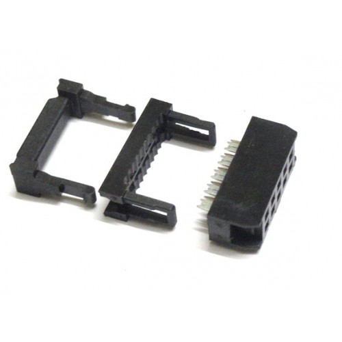 Flat Ribbon Cable Connector 10 Pin Female Press Mount