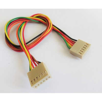Relimate Connector - 6 Pin Board to Board - F-F - 2.54mm Pitch - Male Header Included