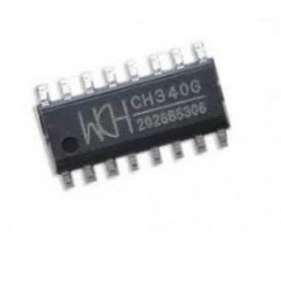 CH340G - USB to Serial TTL - RS232 converter IC - SOIC16