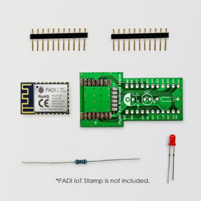 Breadboard adaptor for PADI IoT Stamp