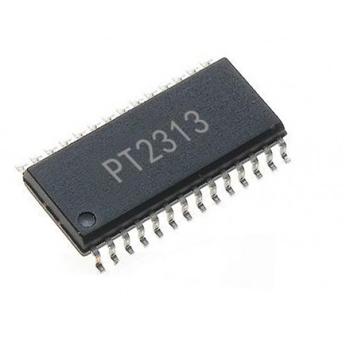 pt2313 4 channel digitally controlled audio processor ic 28 pin