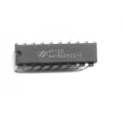 HT12D - Decoder for IR/ RF Remote Control Applications - DIP-18 - Holtek Semiconductor