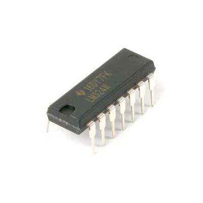LM324N, Quad Operational Amplifiers, 14-PDIP, Texas Instruments