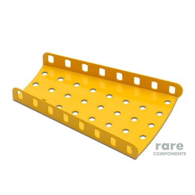 Flanged Sector Plate - Meccano #54 - Yellow
