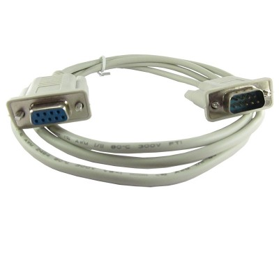 Serial Cable - Molded - Male DB9 to Female DB9 Cable - 120cm Length
