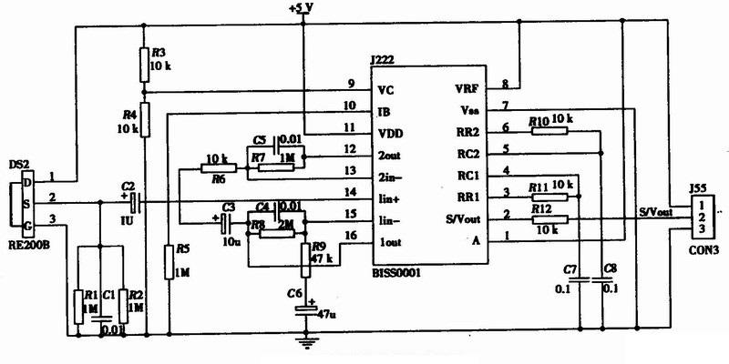 Bis0001 - Pir Motion Detection Ic